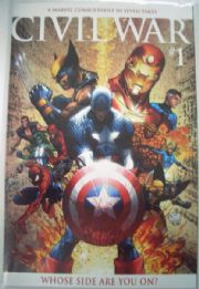 Civil War #1 Michael Turner Retail Incentive Variant Marvel comic book